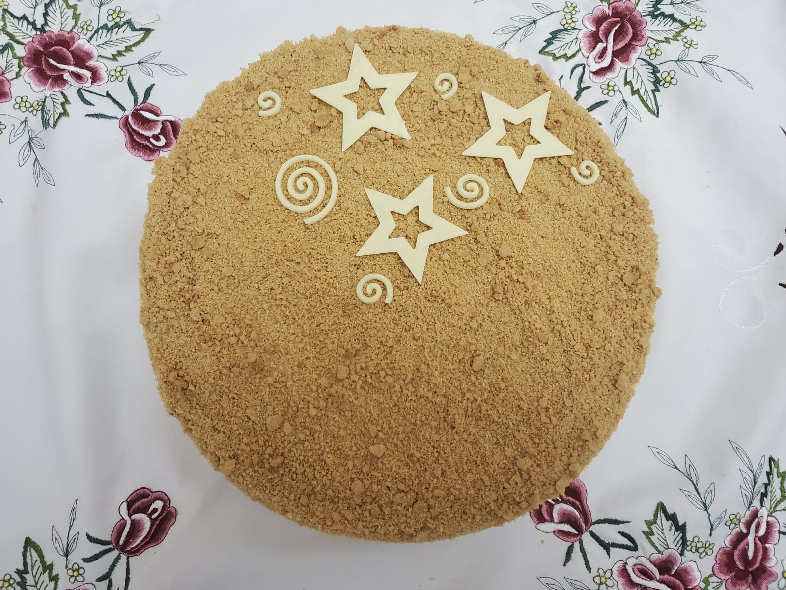 עוגת מוס גבינה זברה
