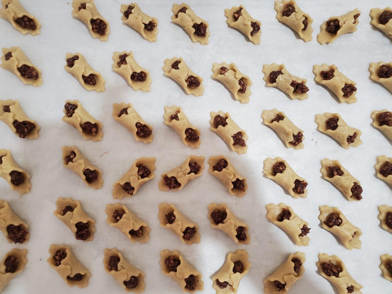 העוגיות לפני אפייה